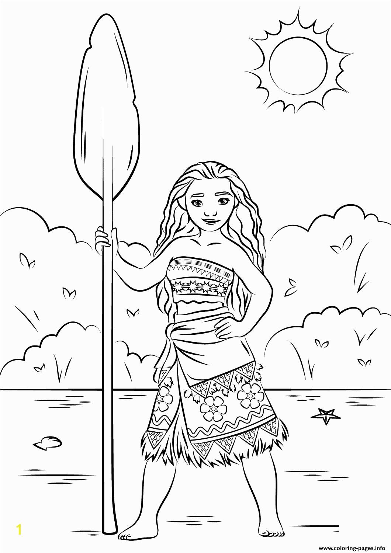Print princess moana disney coloring pages
