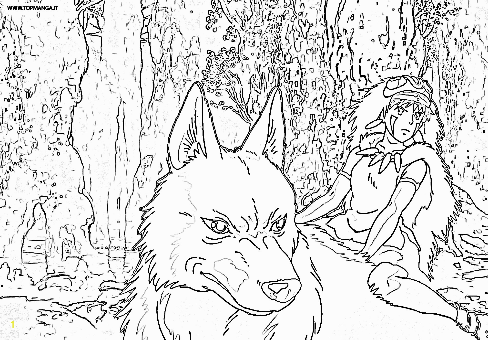 Advice Princess Mononoke Coloring Pages Princesse Page For Girls New Ideas