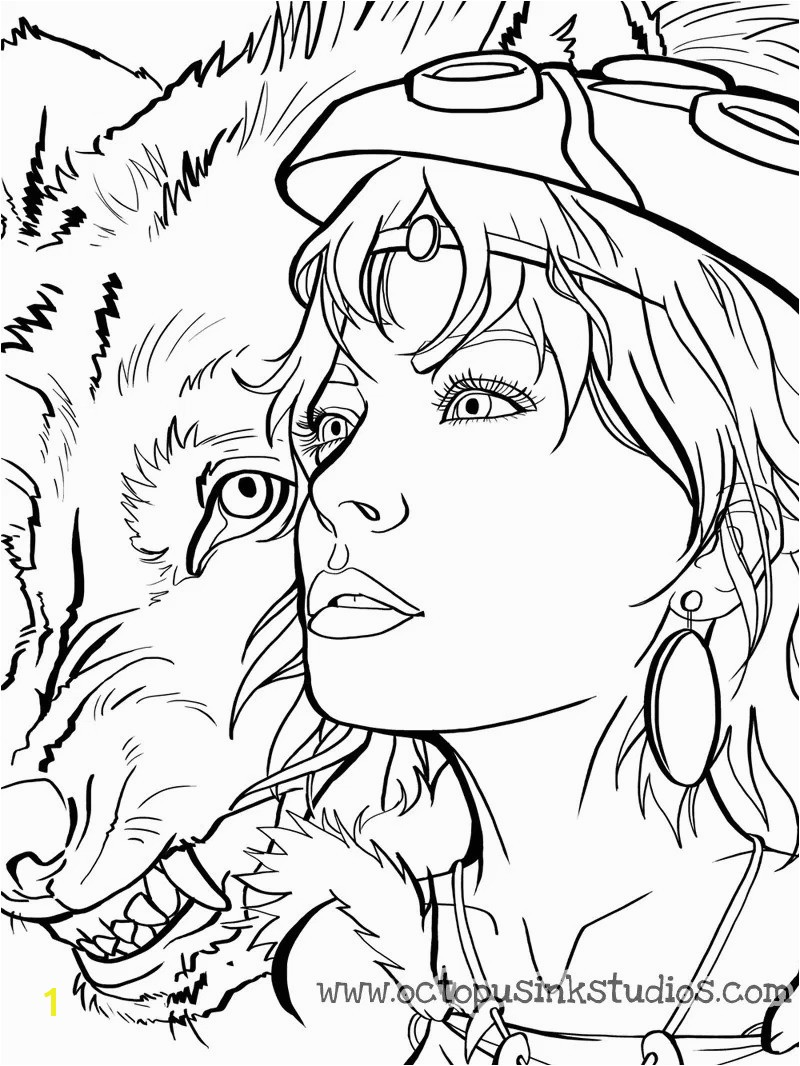 Delighted Princess Mononoke Coloring Pages Mononok Rat Man Color Special Disegni Da Colorare In