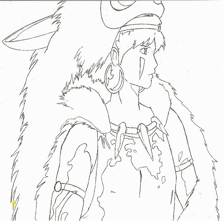 Princess Mononoke San coloring page
