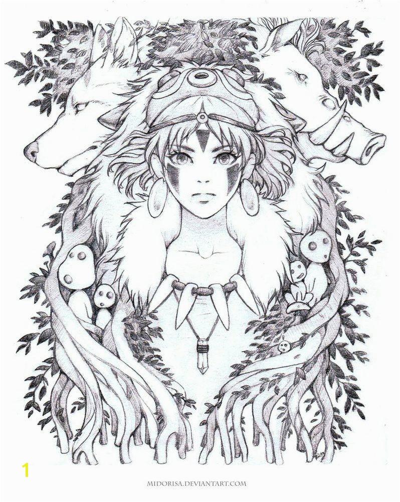 Reliable Princess Mononoke Coloring Pages By Midorisa Deviantart Ghibli Pinterest