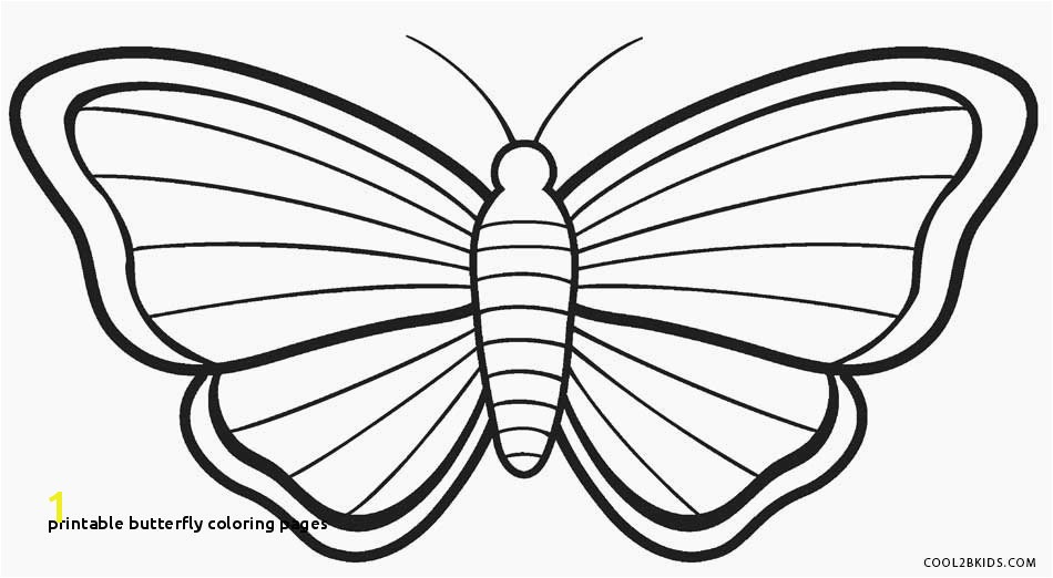 20 Printable butterfly Coloring Pages