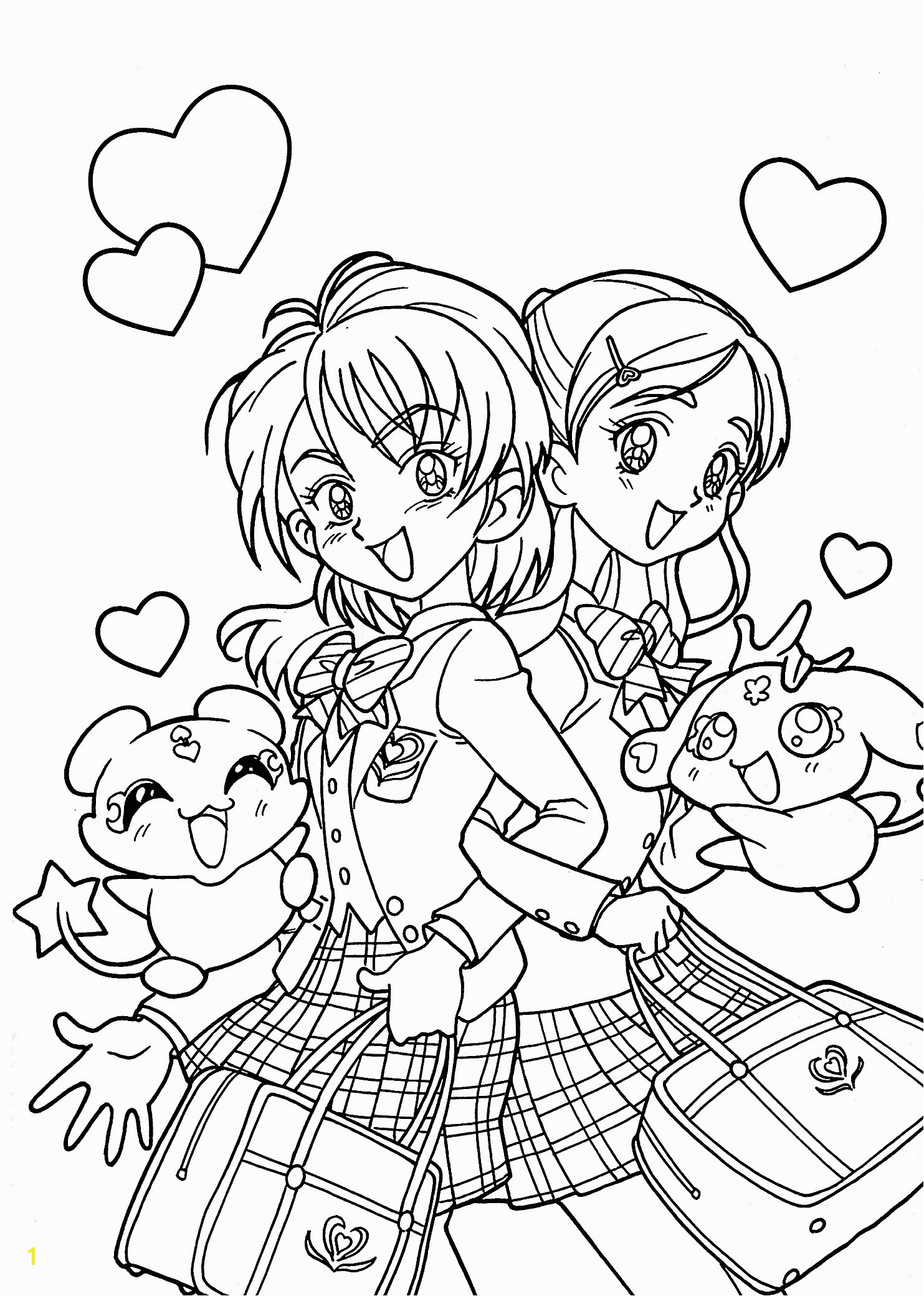 Printable Coloring Pages Girls Cute Anime Chibi Girl Coloring Pages Beautiful Printable Coloring