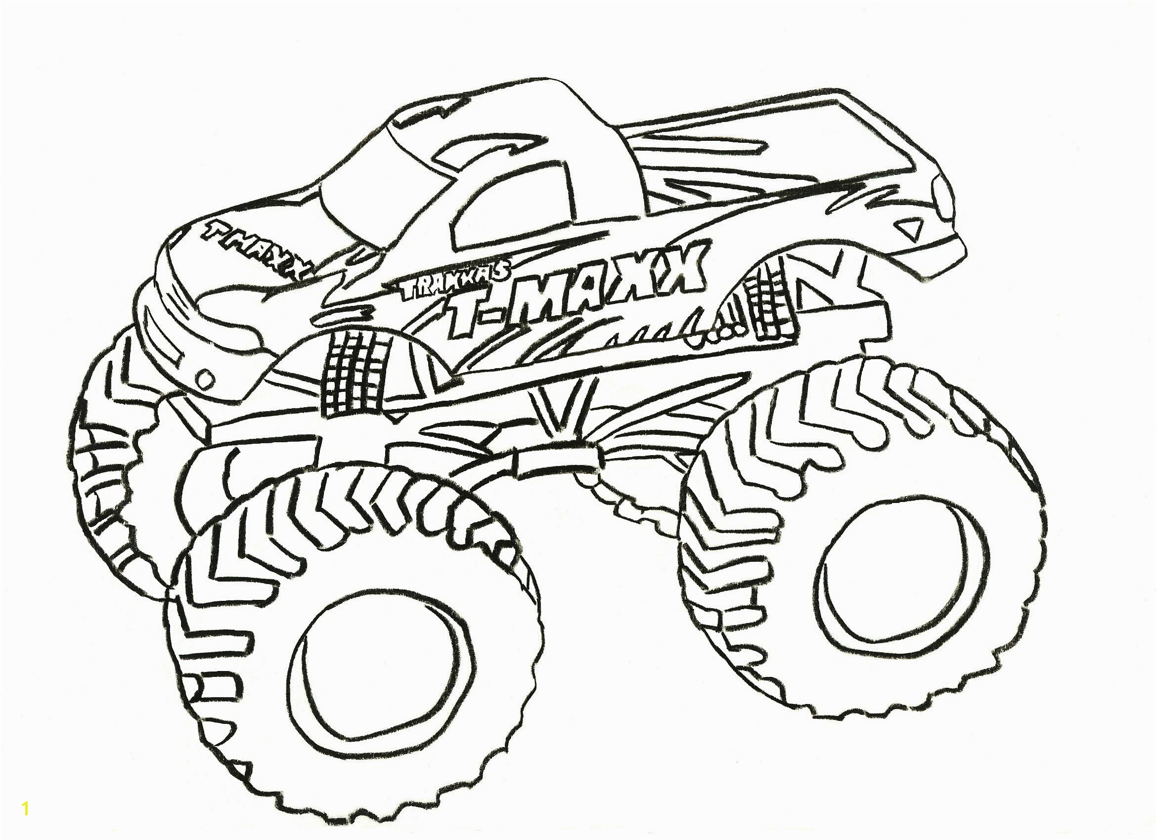 Printable Coloring Pages Monster Truck Truck Drawing for Kids at Getdrawings
