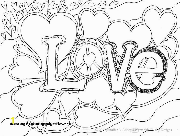 20 Coloring Pages Printable Flowers