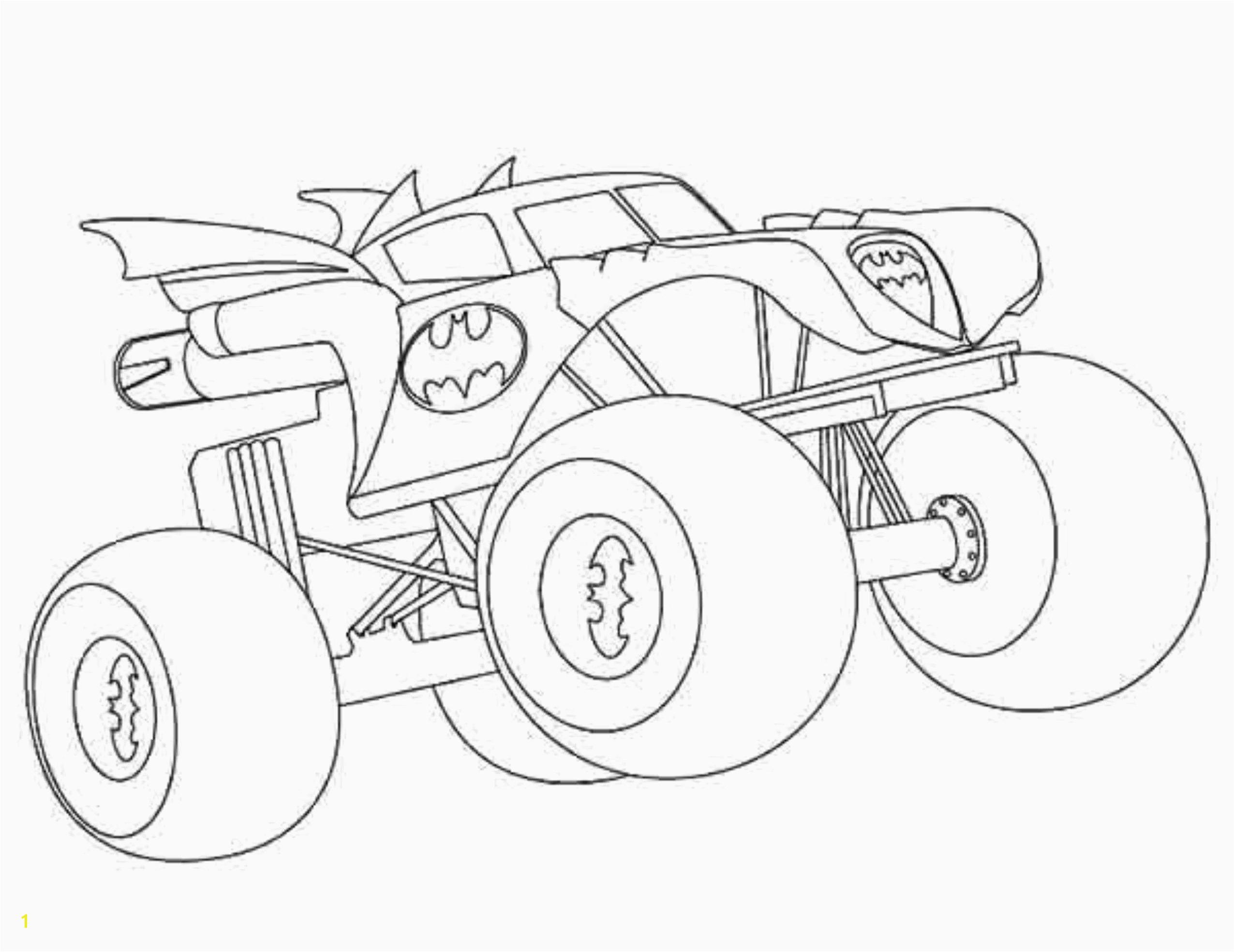 Printable Coloring Sheets Monster Trucks Batman Monster Truck Coloring Pages Coloring Chrsistmas