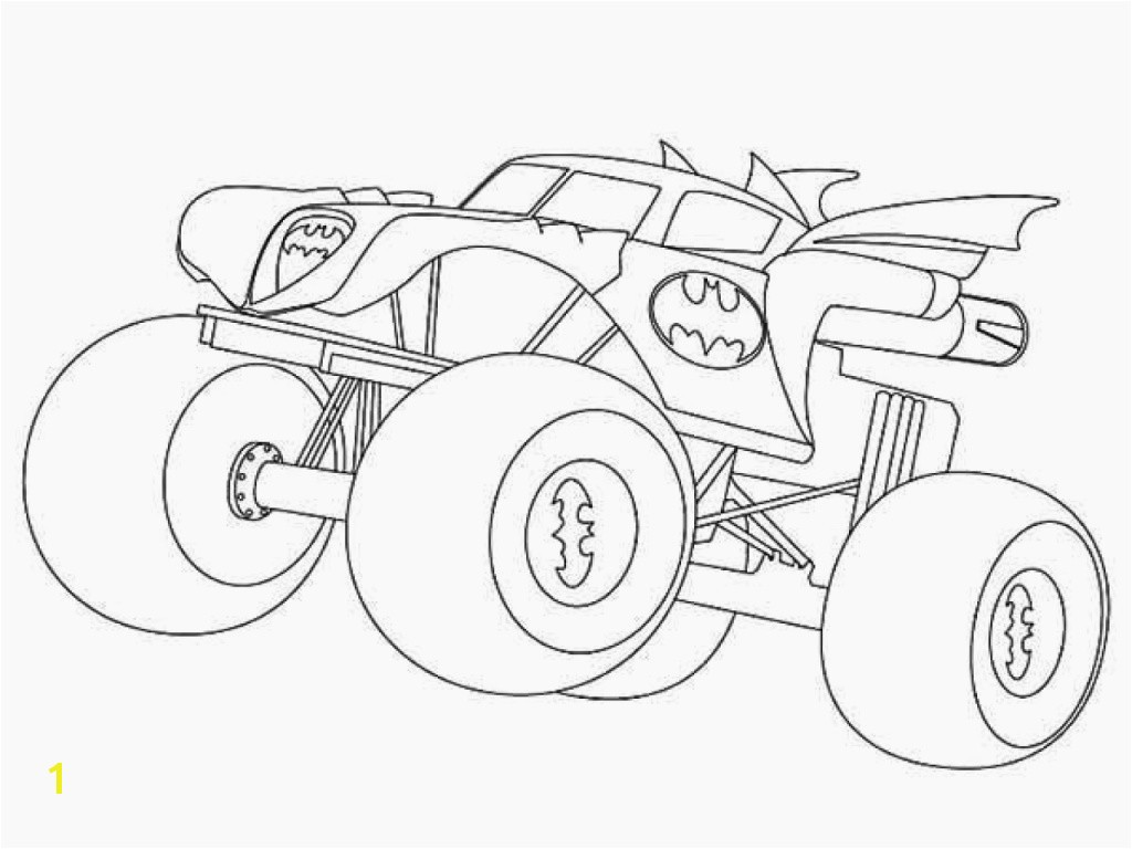 Printable Coloring Sheets Monster Trucks Batman Monster Truck Coloring Pages Coloring Chrsistmas