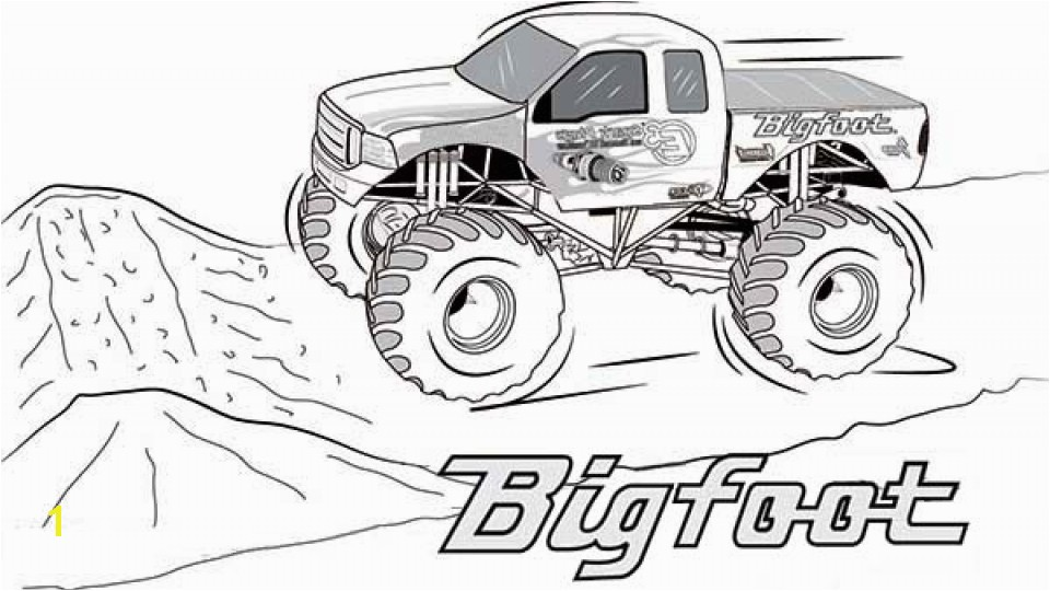 Monster Jam Coloring Pages Awesome 20 Free Printable Monster Truck Coloring Pages Everfreecoloring