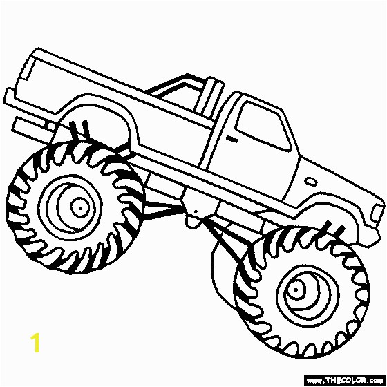 Printable Coloring Sheets Monster Trucks Design Your Own Monster Truck Color Pages