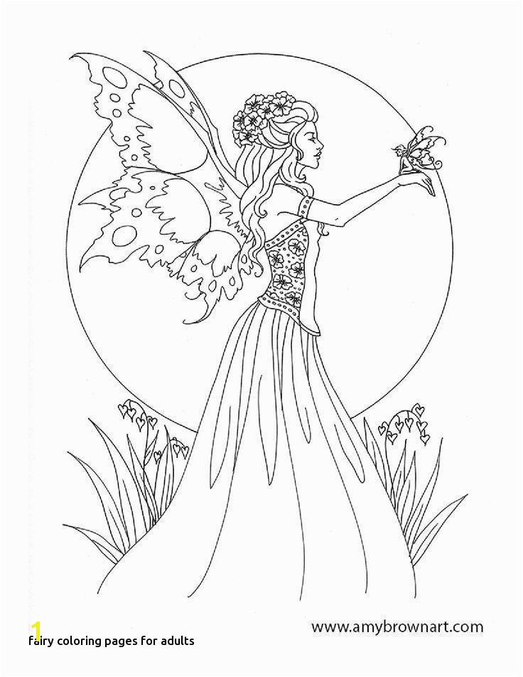 Printable Colouring Pages Fairy