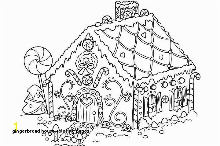 Gingerbread House Coloring Page Printable Inspirational Color Sheets