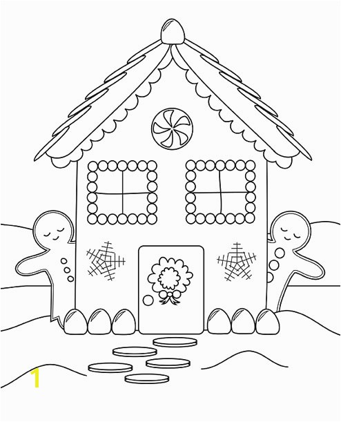 494x611 Coloring Pages Gingerbread Houses For Little Kids Beatiful Draw