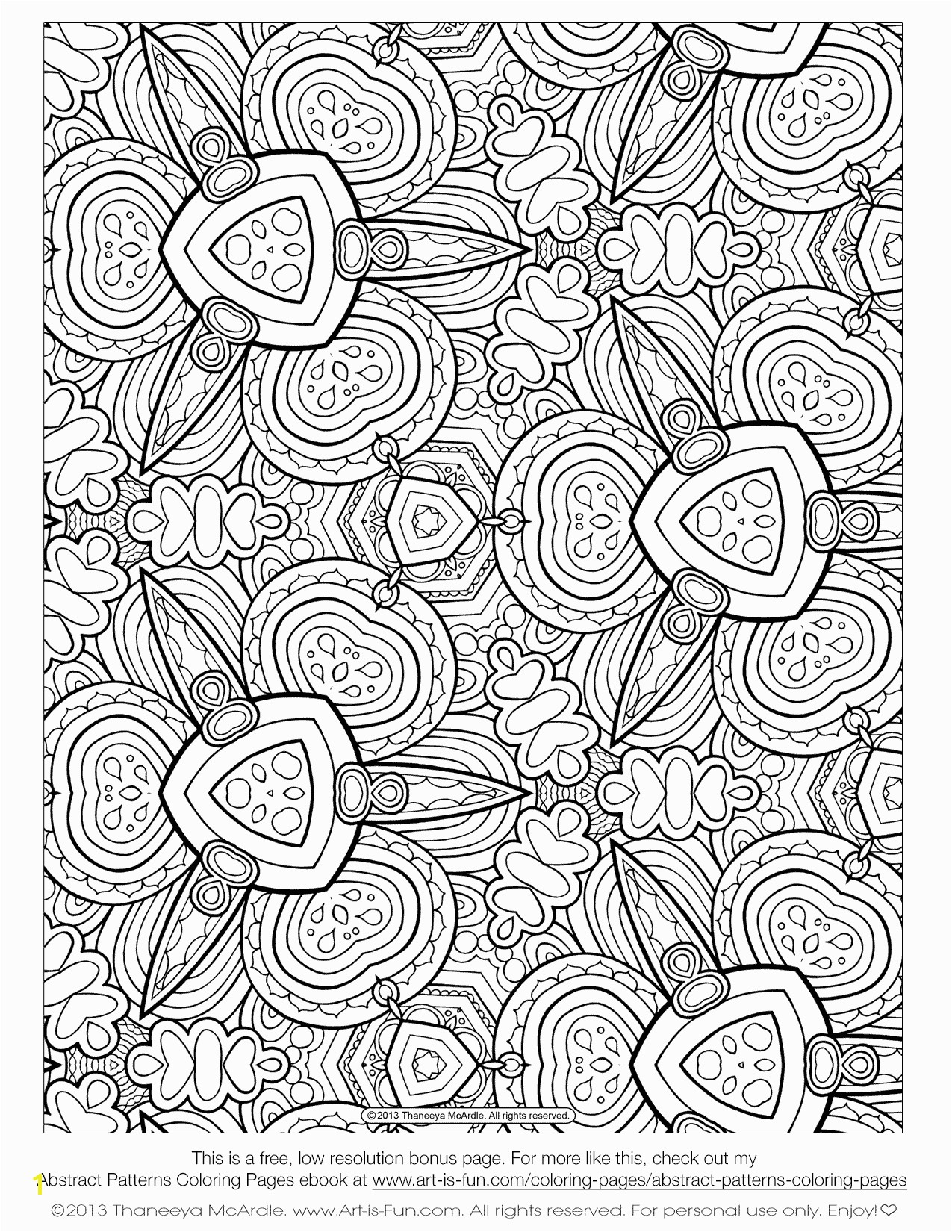 Awesome Coloring Page for Adult Od Kids Simple Floral Heart with