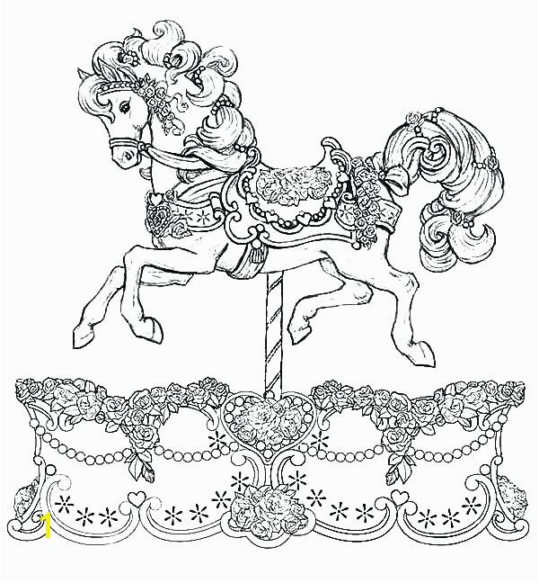 Printable Horse Coloring Pages New Coloring Carousel Coloring Pages Princess Riding A Horse Free Page