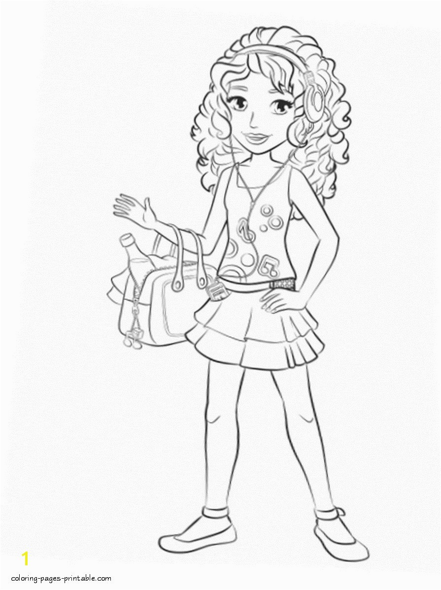 Printable Lego Friends Coloring Pages Lego Friends Coloring Page with Pages 2 andrea 0 Jennymorgan Me