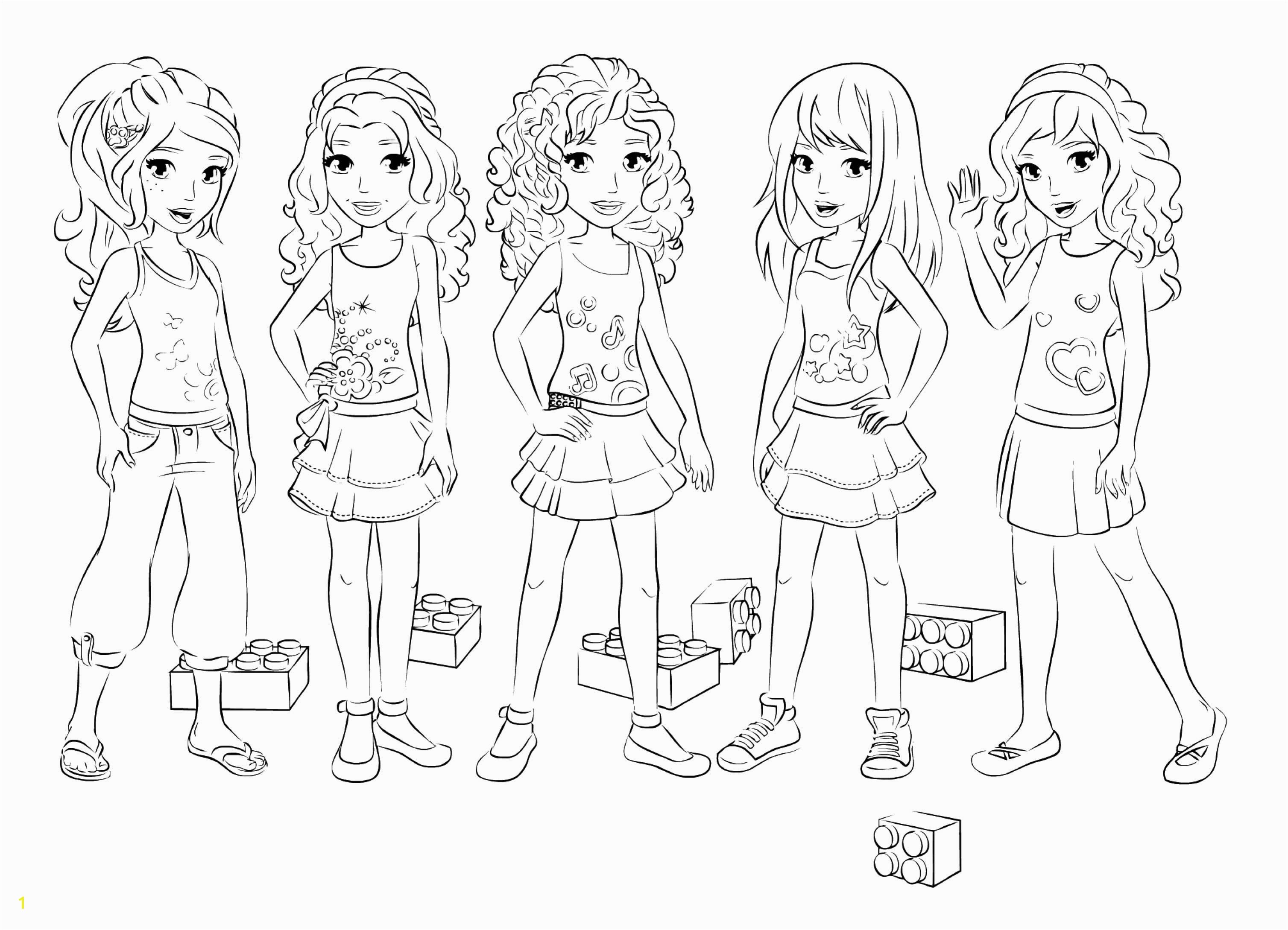Coloring Page Printable Kleurplaat Colouring Page LEGO Friends