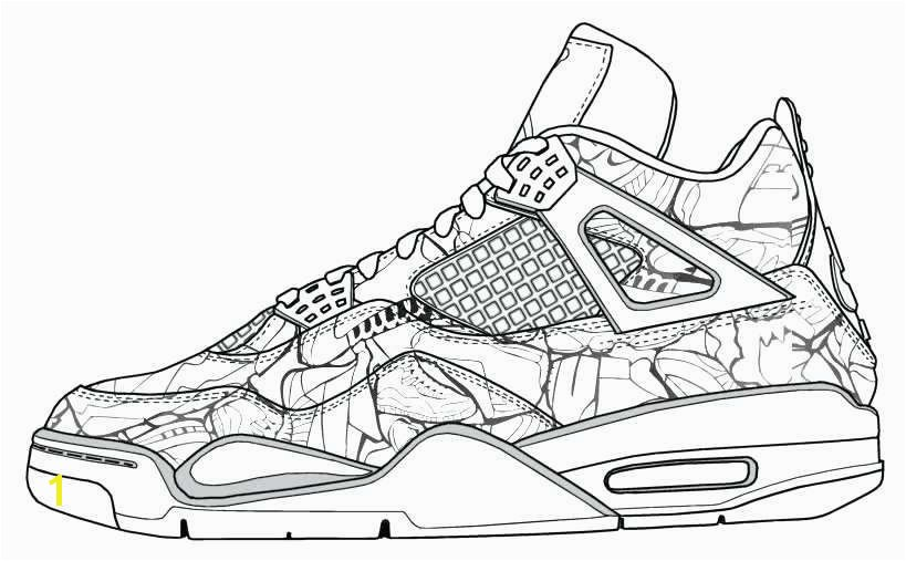 Air Jordan Coloring Pages Inspirational Lebron Shoes Drawing at Getdrawings