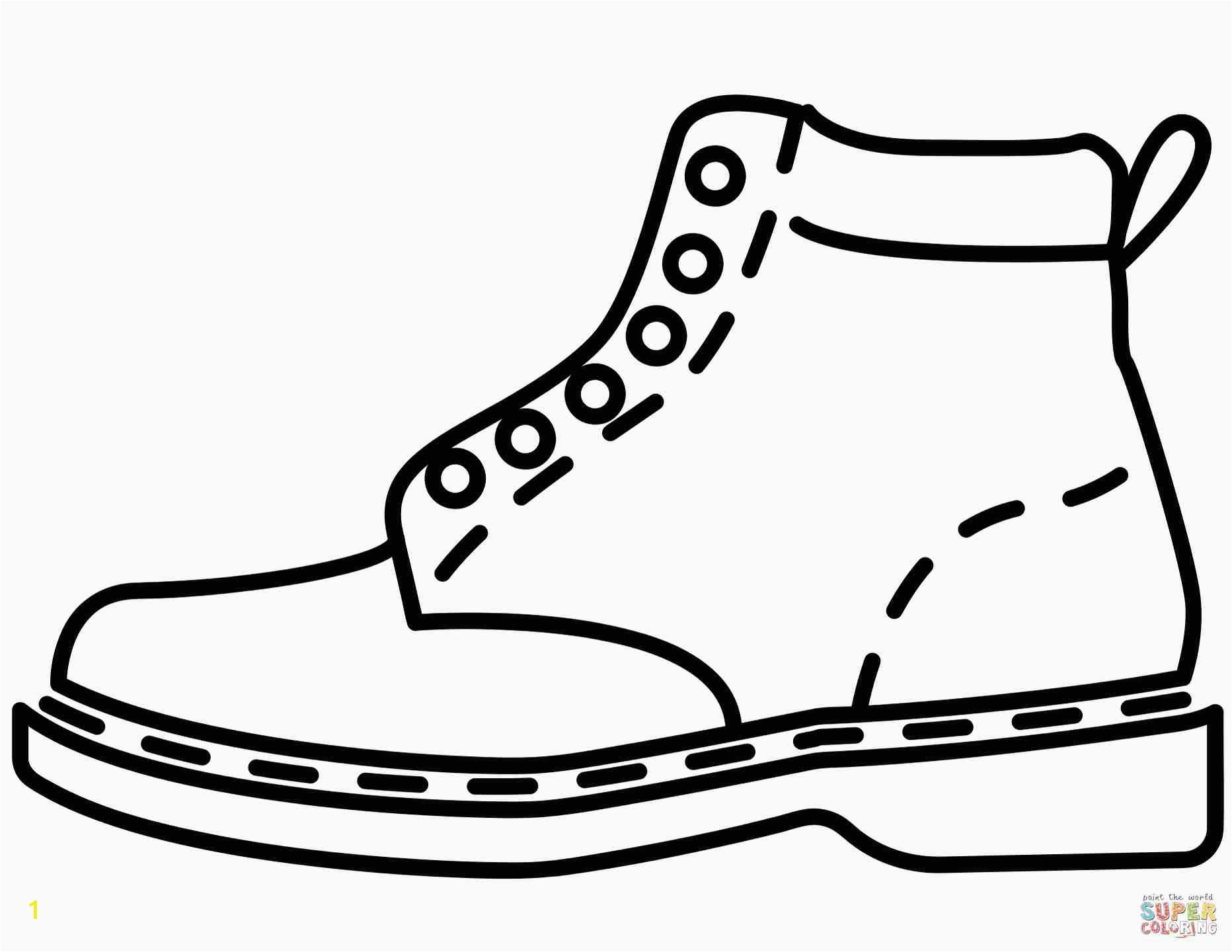 Printable Tennis Shoe Coloring Pages New Best Shoes Coloring Pages 18 for Your Picture Coloring Page