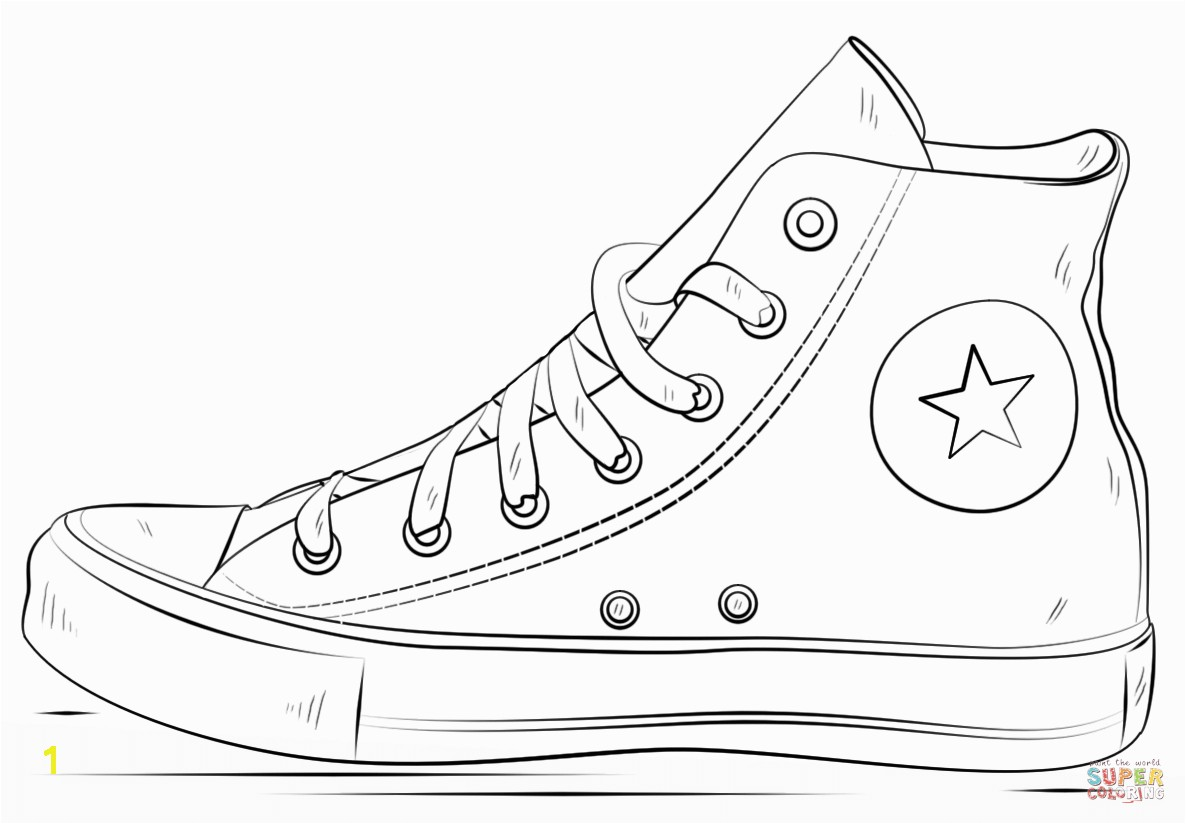 Reliable Shoe Coloring Page Converse Shoes Free Printable Pages