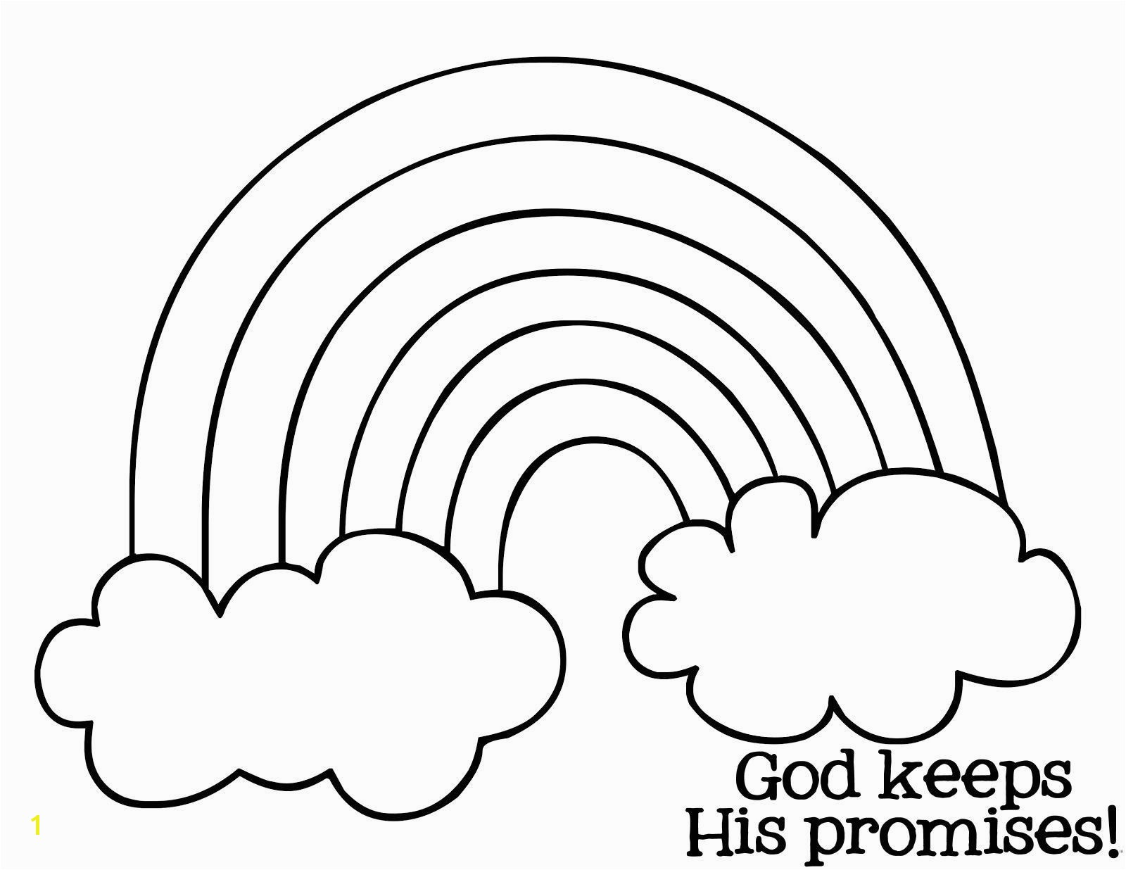 Rainbow and Clouds Coloring Page Inspirational Rainbow Coloring Page Pdf Free Download s