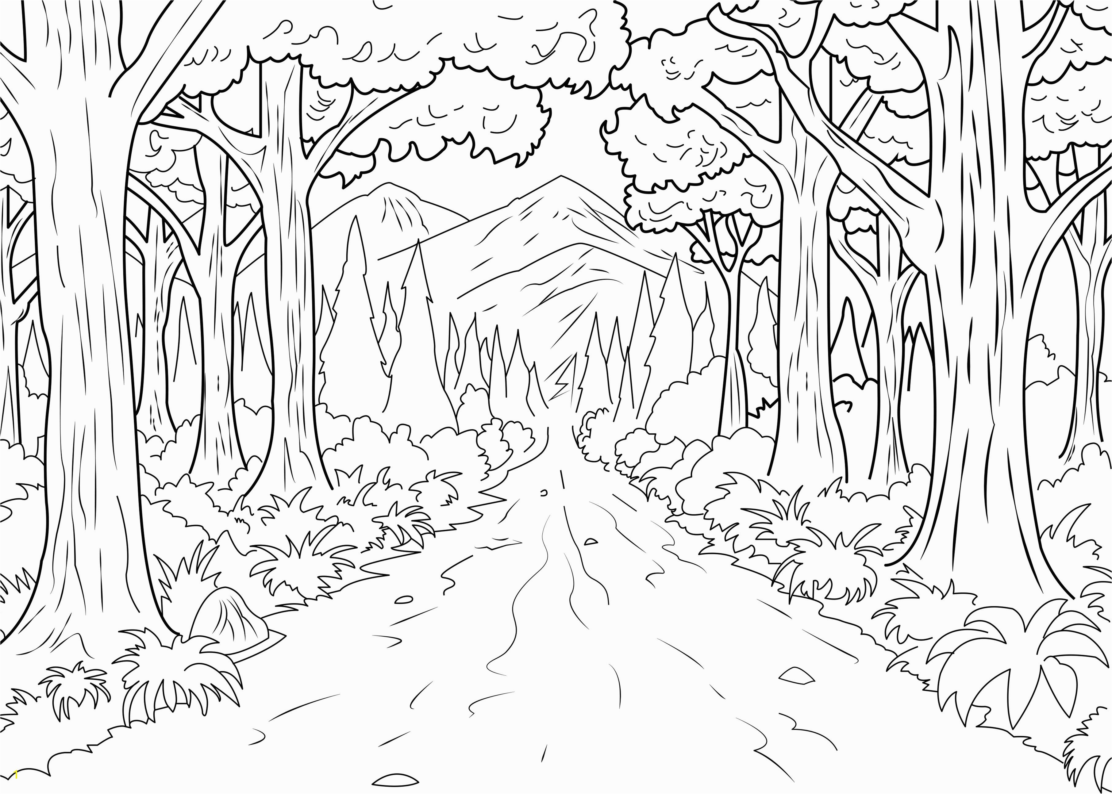 A coloring page of forest made by Celine From the gallery Jungle & Forest Artist Celine