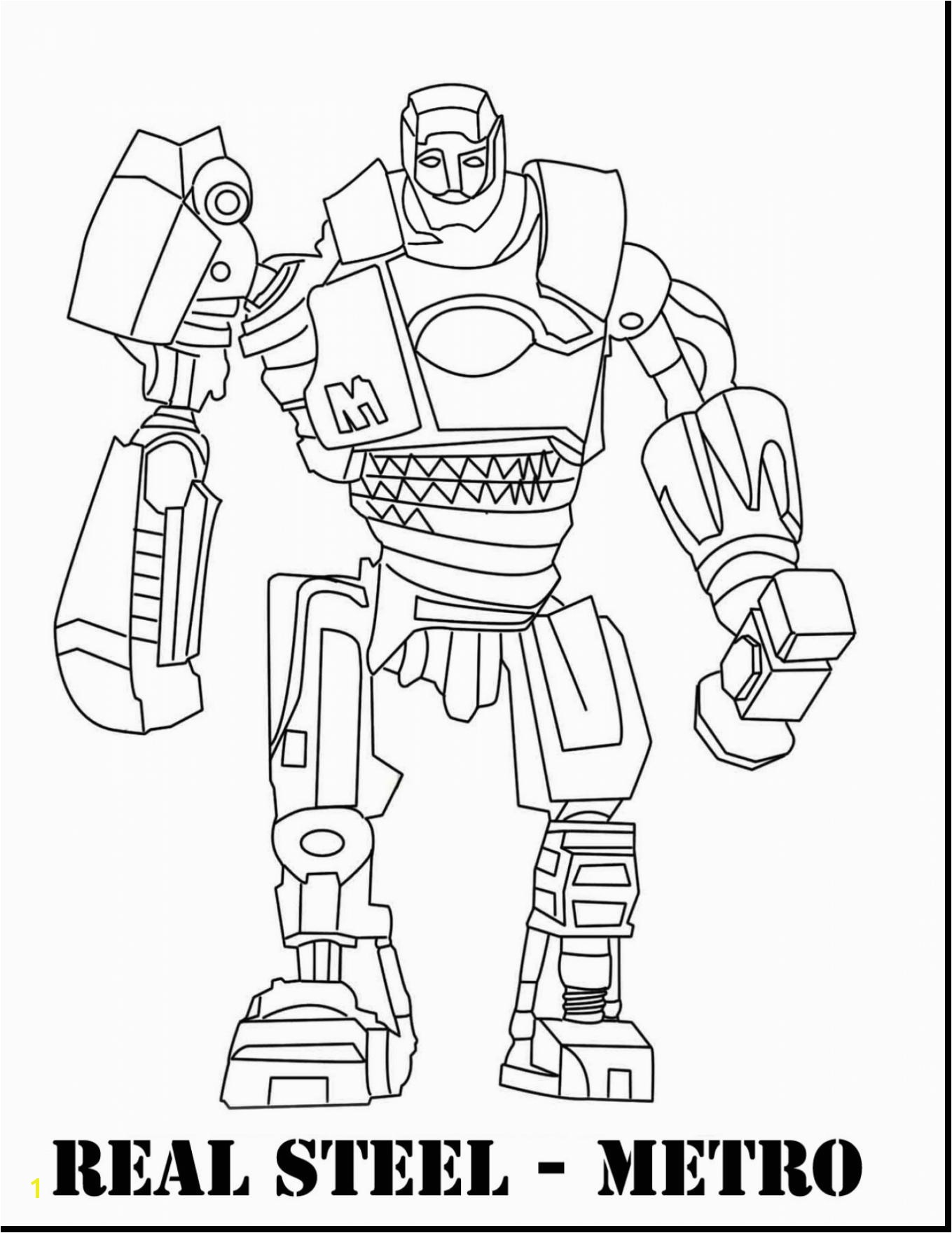 Real Steel Robot Coloring Pages Real Steel Coloring Pages