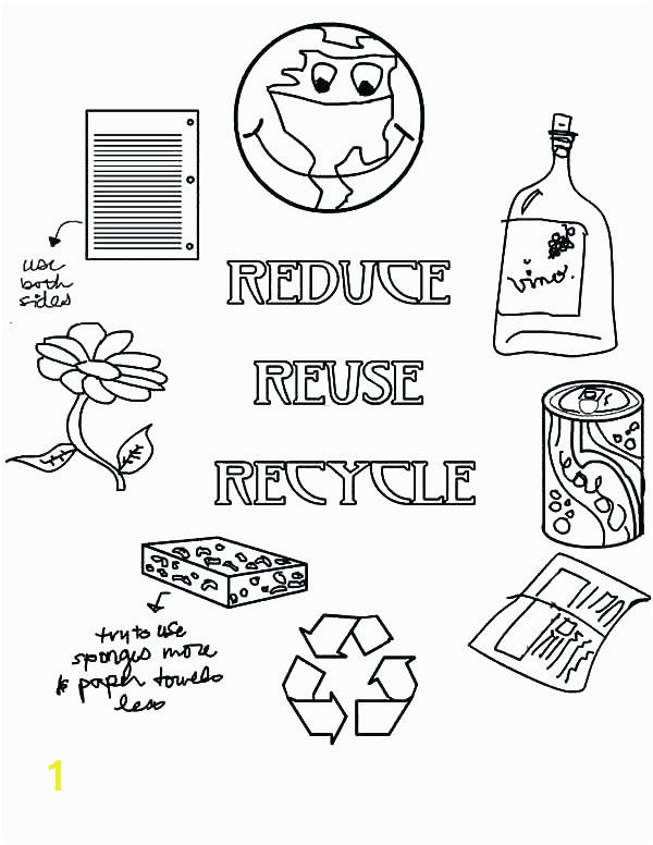 Reduce Reuse Recycle Coloring Pages Recycling Coloring Page Kid Color Pages Earth Day for Boys Earth