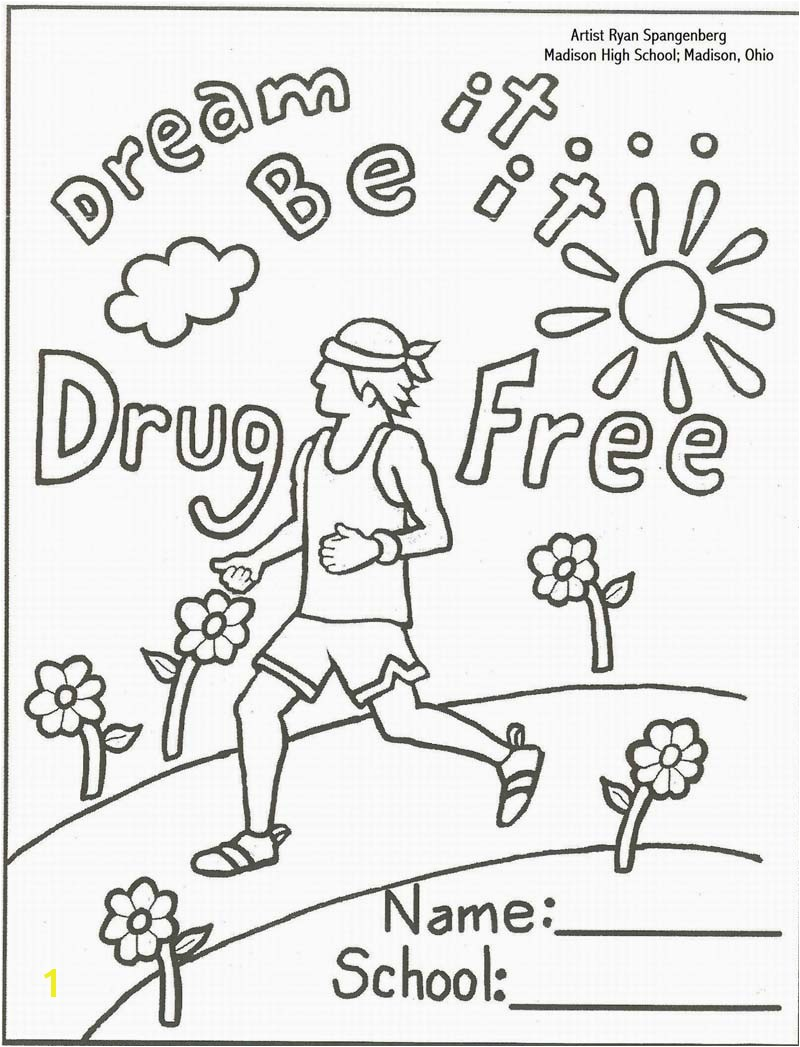 Awesome red ribbon week coloring sheet Download 11o 800x1047 Just Say No To Drugs Coloring