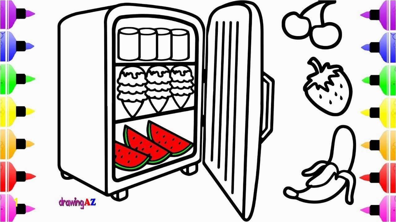 Lollipop Coloring Page Fresh Coloring Pages Food In A Refrigerator with It S Door Open &