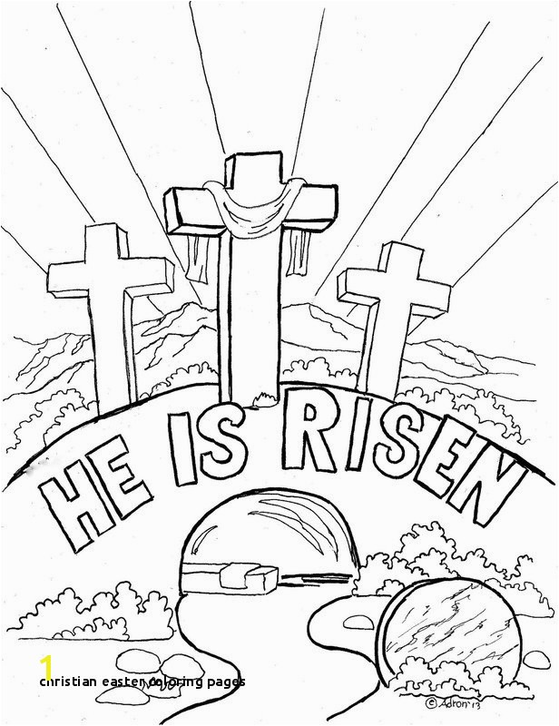 Religious Easter Coloring Pages for toddlers Christian Easter Coloring Pages Religious Easter Coloring Pages 11