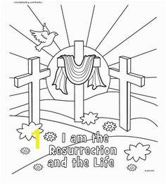 Resurrection Coloring Page Religious Easter Coloring Page Easter Coloring Pages for Kids