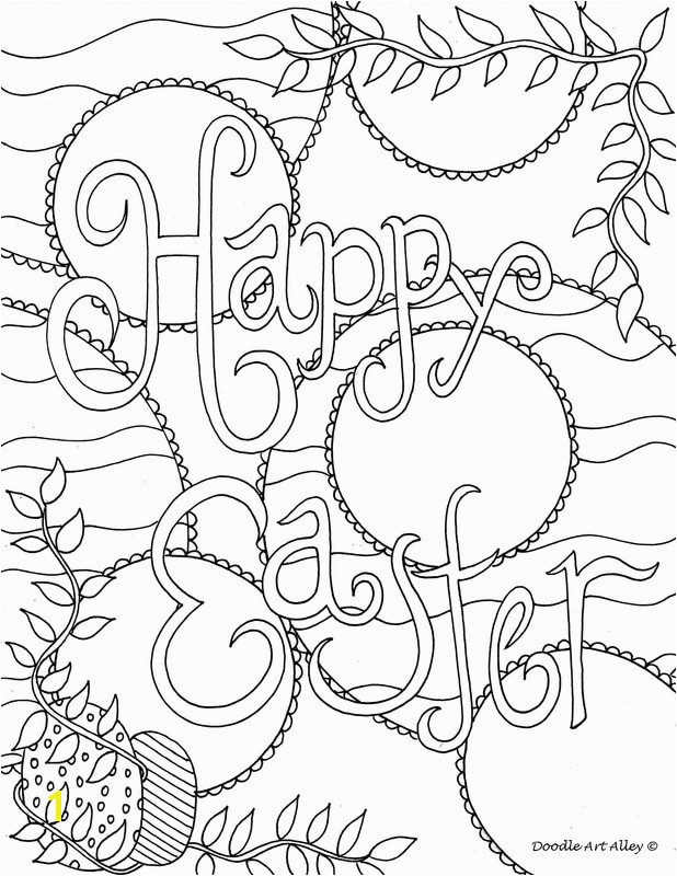 Religious Easter Coloring Pages for toddlers Easter Coloring Pages Doodle Art Alley