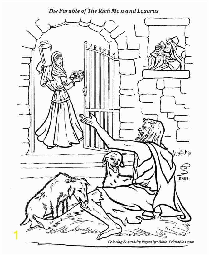 Rich Man and Lazarus Coloring Page the Parable Of the Rich Man and Lazarus the Parables Of Jesus
