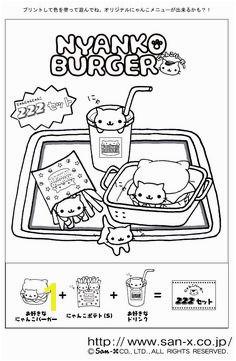 Nyan Nyan Felt Templates Rilakkuma Coloring Pages Coloring Books Sanrio Felting Books Colouring Pages