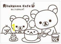 Free Printable Rilakkuma Coloring Page