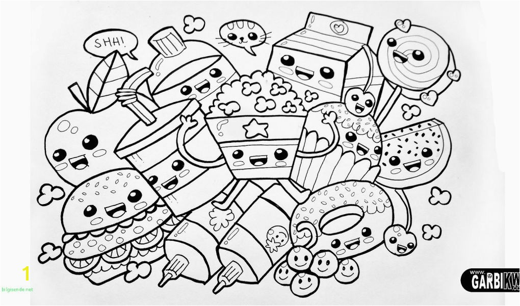 Kids Coloring Pages for Girls Kawaii Kitty Faces for Halloween Unique Coloring Book and Pages Kittyburger