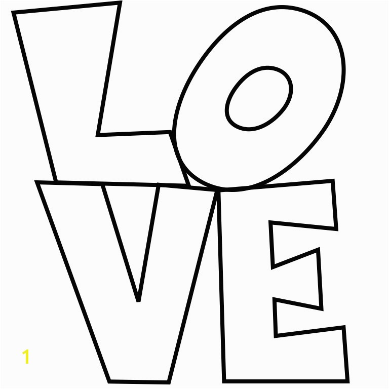 Best Robert Indiana Love Coloring Page graph