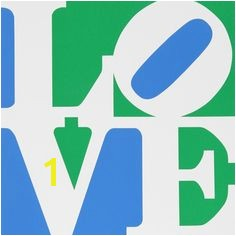 Robert Indiana Love Coloring Page Love Blue Green Red Silkscreen Print by Robert Indiana at King