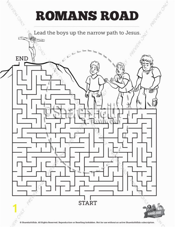Romans Road Bible Mazes