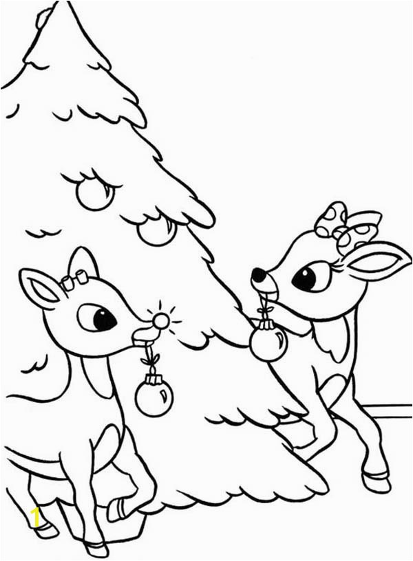 15 Elegant Coloring Pages Christmas Rudolph graph