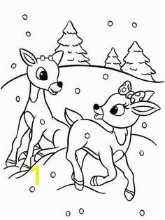 Rudolph the Red Nosed Reindeer coloring pages on Coloring Bookfo Coloring pages Pinterest
