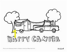 Free Download Camper Coloring Page