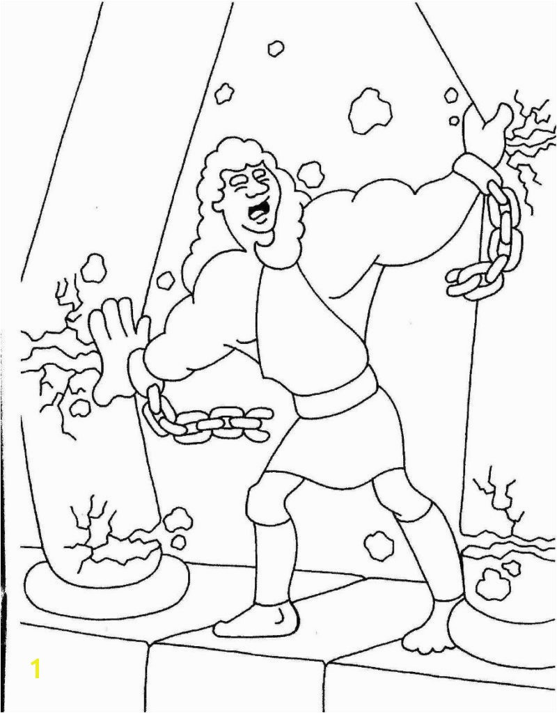 Samson Coloring Pages for Kids Inspirational More Samson Coloring Page with and Pages 7 Gallery
