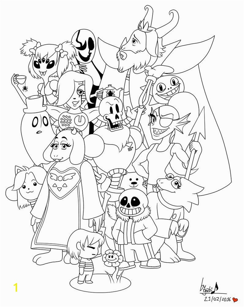 Sans Undertale Coloring Pages Undertale Coloring Pages Printable Projects to Try