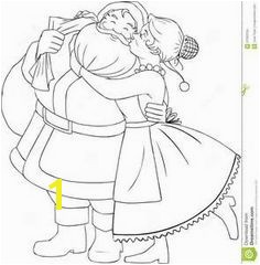 Mr and Mrs Santa Claus Coloring Pages Clipart Holidays Pinterest