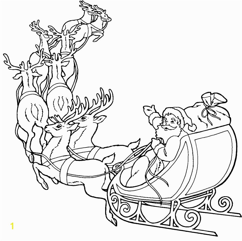 santas reindeeroring pages pulling sleigh santa claus and free