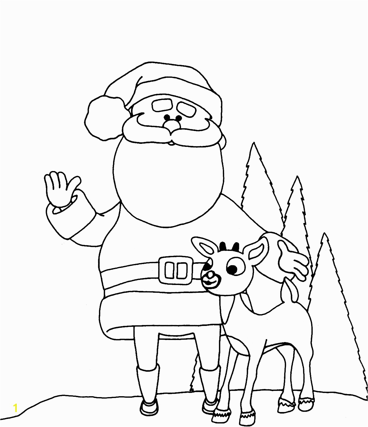 amazing of perfect santa and reindeer coloring pages with 1032