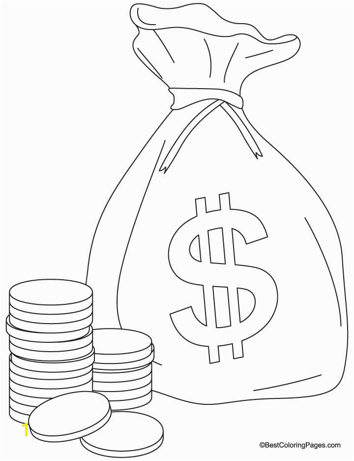 Saving Money Coloring Pages Save Money Drawing at Getdrawings