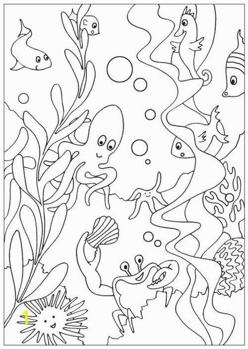 Under the Sea Free Coloring Pages