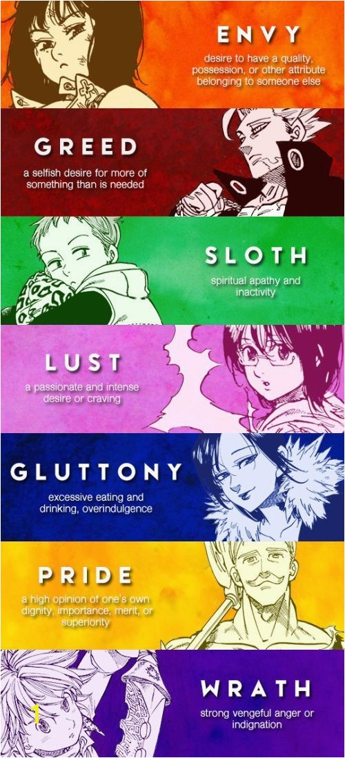 Seven Deadly Sins Coloring Pages What Colors Seven Deadly Sins Colors S Media Cache Ak0 Pinimg 640x
